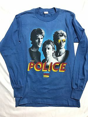 Vintage The Police Band Synchronicity Tour Shirt 1983