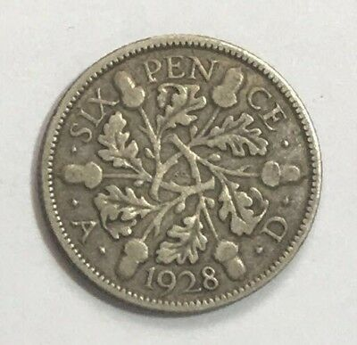 Great Britain 6 Pence 1928 Silver
