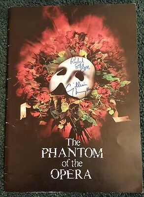 Gillan Lynne & Richard Stilgoe Signed Phantom of the Opera Programme/Brochure