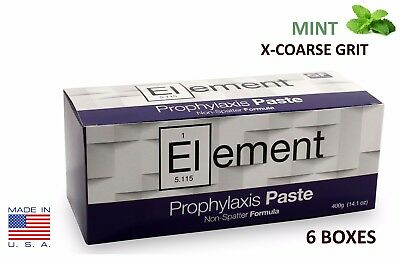 6 BOXES ELEMENT Prophy Paste Cups MINT X-COARSE 200/Box  Dental W/Flouride