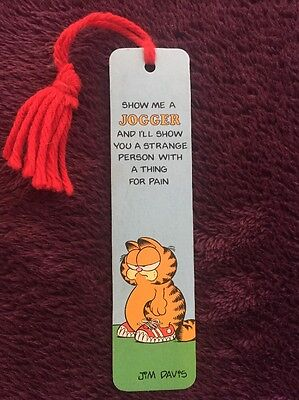 Vtg 1978 Garfield Collectible JOGGER BOOKMARK by Antioch RARE 80s w/ name DENNIS