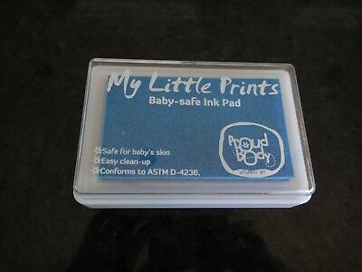 Baby Safe Ink Pad for Footprints and Handprints Reuseable - Blue