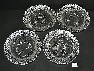"""ThriftCHI ~ Westmoreland English Hobnail Clear Glass Berry Bowls 6.25"""""""