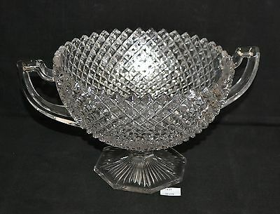 ThriftCHI ~ Westmoreland English Hobnail Clear Two Handled Center Bowl