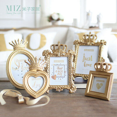 Gold Crown Decor Picture Photo Frame Baroque Luxury Style