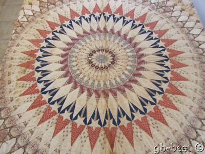 Cosmo c 1820/30s Compass Star ORIGINAL Antique Quilt Museum Find Collection