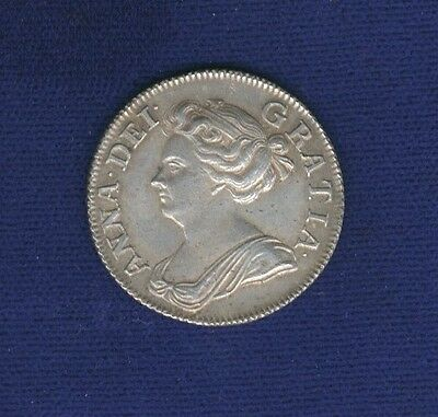 England Anne  1708  Shilling, Almost Uncirculated