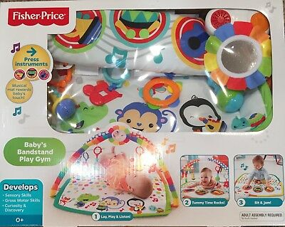 Fisher Price Baby's Bandstand Listen, Lay, & Play Musical Mat Play Gym