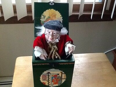 A Christmas Carol Dept 56 Scrooge Collector Series Jack In The Music Box 1987