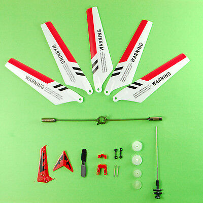 Full Replacement Parts 1 Set For Syma S107 / S107G RC Helicopter Red