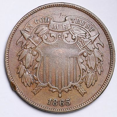 1865 Two Cent Penny CHOICE XF FREE SHIPPING E171 KNN