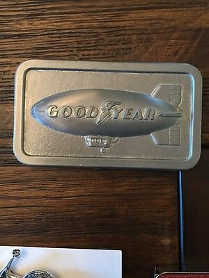 Goodyear Blimp 1974 Collectible Belt Buckle **Pewter?**