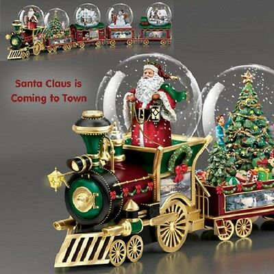 Santa Clause is Coming Town Wonderland Express Snow Dome Train #1 only  Kinkade