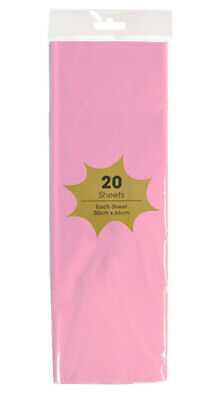 20 x LIGHT PINK Tissue paper 55 x 66 cm Sheets - Acid Free - gift wrap, party