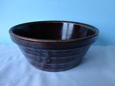 Marcrest Brown Stoneware Casserole Bowl - 10""