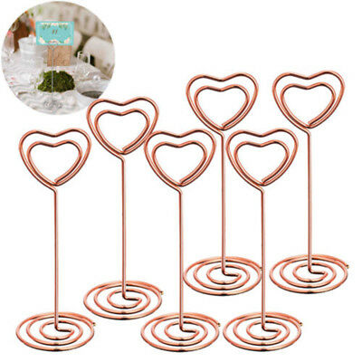 10pcs Photo Holder Stand Table Number/Card/Menu Clip Heart Shape for Wedding