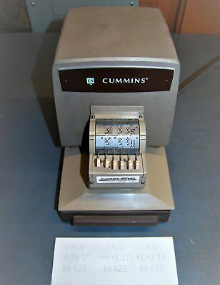 Cummins 300-03 Paid and Date Perforator Cleaned and Lubed.