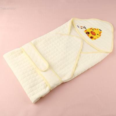 100% Coton Nouveau né Bébé Swaddle Quilt Wrap Blanket Sleeping Bag TCNT