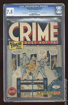 Crime Does Not Pay (1942) #47 CGC 7.5 0987690001
