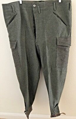 """Unissued Wwii (Dated 1941) Swedish M39 Army Wool Field Trousers (40"""" Waist)"""
