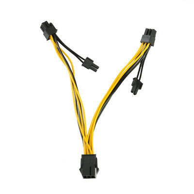 PCI-E 6-pin to 2x 6+2-pin Power Splitter Cable PCIE PCI Express (6-pin/8-pin)