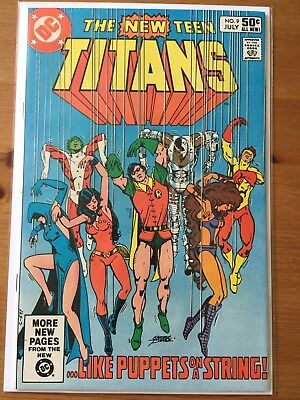 The New Teen Titans 9 and 10  VF+ lot 1980 series DC Comics