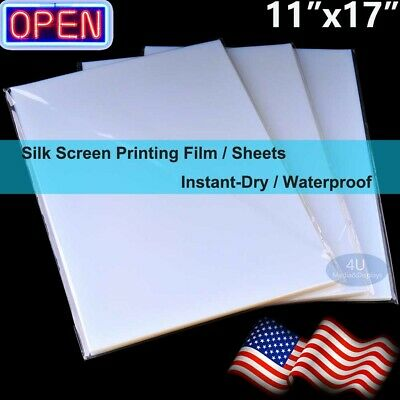 "100 sheets,Waterproof Inkjet Transparency Film for Silk Screen Printing 8.5""x11"""