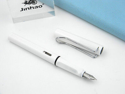 JINHAO new 599 transparent Plastic fashion White popular Finance M Fountain Pen