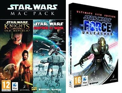 star wars Empire at War & Knights of the Old Republic & the force unleashed sith