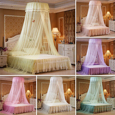 Elegant Round Lace Insect Bed Canopy Mesh Netting Curtain Dome Mosquito Net
