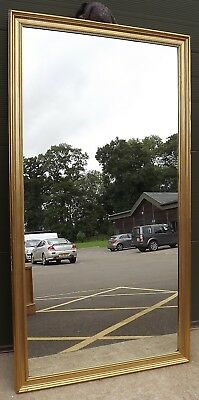 "LOVELY LARGE GILT-FRAMED WALL DRESSING MIRROR IN THE ANTIQUE STYLE 77"" x 41"""
