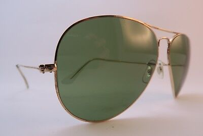 Vintage B&L Ray Ban sunglasses gold filled 1-30 10K GO etched lens USA