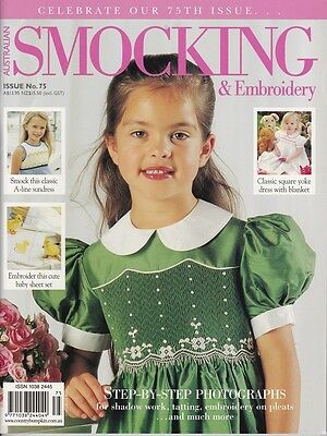 Australian Smocking & Embroidery Issue 75 Heirloom  Multi-size Patterns NEW