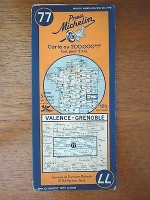 Carte Michelin 77 Valence Grenoble 1936