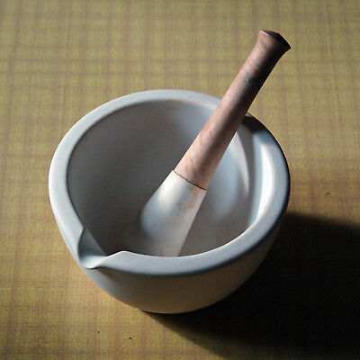 Vintage Porcelain Mortar & Pestle #4 Thomas Maddock Pottery Co. of New Jersey