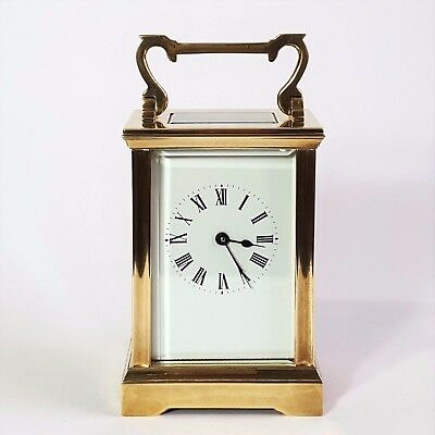 Antique French Brass Anglaise Cased Carriage Clock c1900 - Exceptional Condition