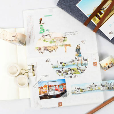 World Impression Style Washi Masking Tape Hand account Scrapbook Craft Decor DIY