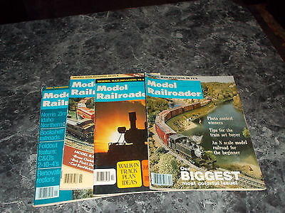 Model Railroader Magazines Year 1977 4 assorted months