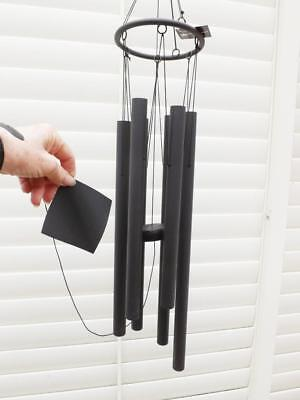 Large Black Metal Tubular Wind Chime* 110Cm*beautiful Musical