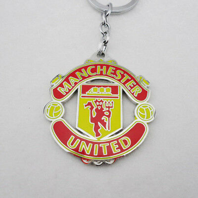 88Football Key Ring Metal Emblem With  Real Key Chain Manchester United