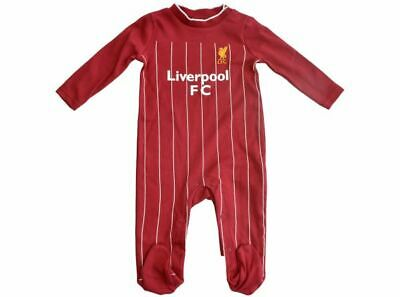 Liverpool FC Official Football Gift Home Kit Baby Sleepsuit Long Sleeve Red