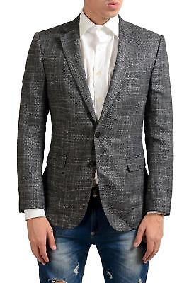 "Hugo Boss ""Nobls2"" Men's Gray Wool Blazer Sport Coat US 38R IT 48R"