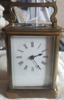 Victorian carriage clock skeleton movement antique fully working