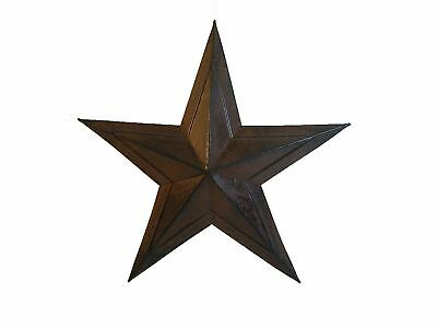 Craft Outlet Star Wall Decor, 12-Inch, Black Rust and Antique, Set of 4 BrandNew