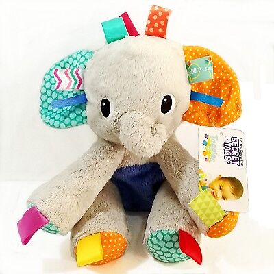 Bright Starts Taggies Baby Kids Children Plush Big Elephant Cuddle Rattle Toy 0+
