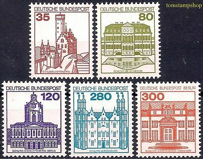 Germany B 1982 German Castles Buildings Architecture Heritage History 5v set MNH