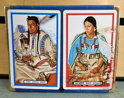 GREAT NORTHERN RAILWAY Playing Cards Chief Middle Rider & Buckskin Pinto Woman