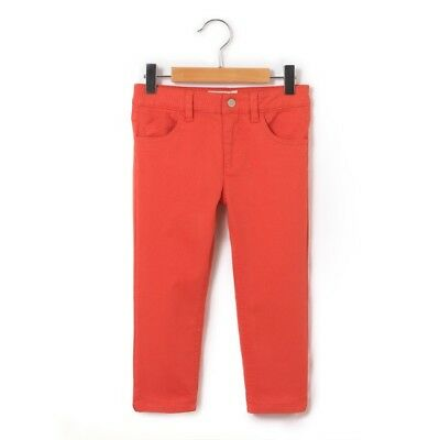 LA REDOUTE GIRLS SLIM FIT CROPPED TROUSER CORAL AGE 5 YEARS NEW (ref 379)