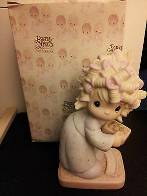 ENESCO PRECIOUS MOMENTS Girl on Weigh Scales with Original Box!!!