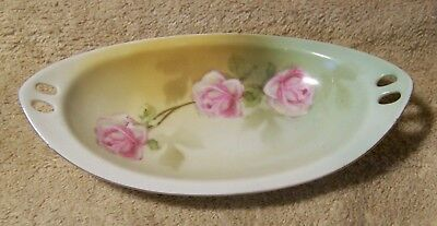 Pretty Little Vintage Oval BOWL with Pink Roses, Germany